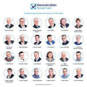 Demokraten Swalmen presenteert kandidatenlijst 2018-2022